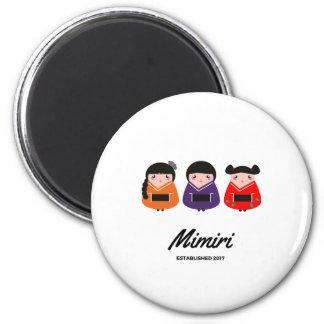 """Mimiri designers """"little Geishas"""" 6 Cm Round Magnet"""
