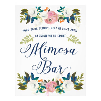 Mimosa Bar Bridal Shower Sign Flyer