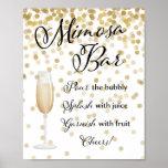 Mimosa Bar Wedding Sign Gold