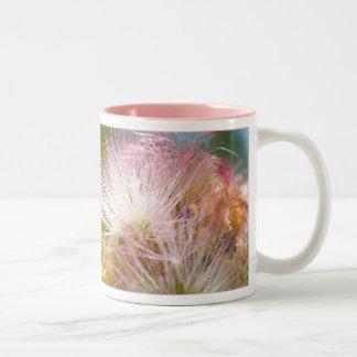 Mimosa Blossoms Two-Tone Coffee Mug