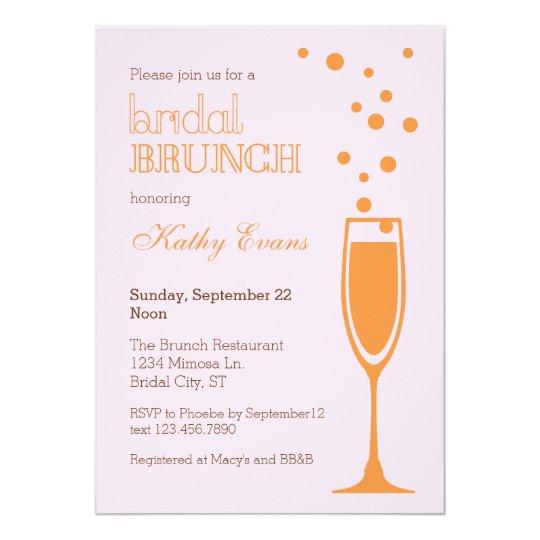 Mimosa Bridal Brunch Bridal Shower Invitation