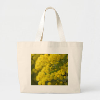 mimosa in bloom large tote bag