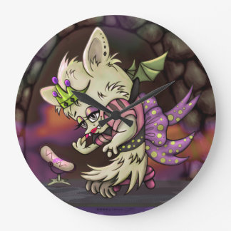 MIMOSA LITTLE BAT HALLOWEEN CUTE CLOCK LARGE ROUND