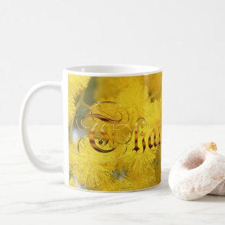 mimosa. Thank you. text. Coffee Mug