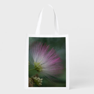 Mimosa Tree Pink Wildflower Floral Reusable Bag