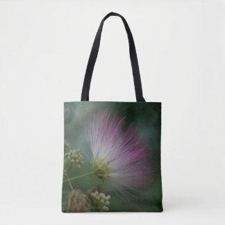 Mimosa Tree Pink Wildflower Floral Tote Bag