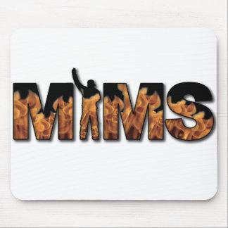 MIMS Button -  Logo - Black Mouse Pad