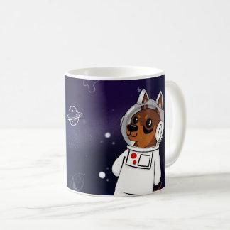 Min Pin Astronaut in Space Coffee Mug