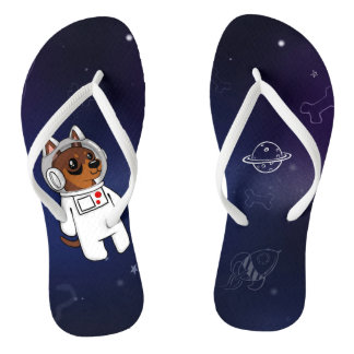 Min Pin Astronaut in Space Flip Flops