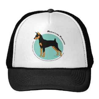 Min Pin Fearless Black and Tan on Green Cap
