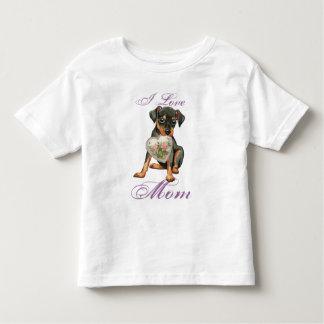 Min Pin Heart Mom T-shirts
