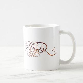 Min Pin in elegant script Basic White Mug