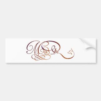 Min Pin in elegant script Bumper Sticker