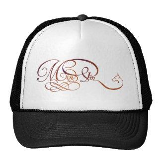 Min Pin in elegant script Mesh Hat