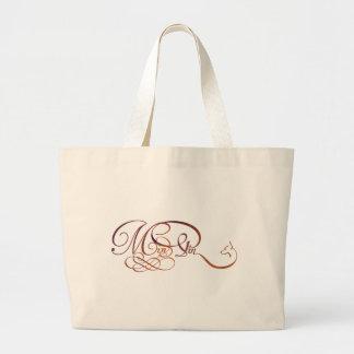 Min Pin in elegant script Large Tote Bag