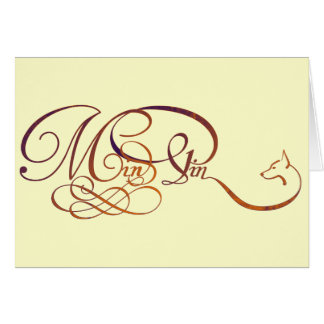 Min Pin in elegant script Note Card