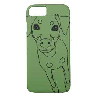 Min Pin (line art) Smartphone 7 Plus Phone Case