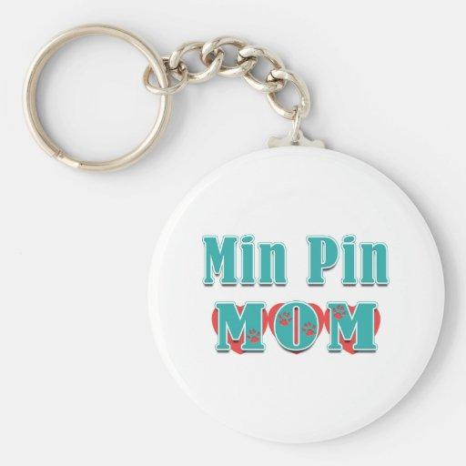 Min Pin Mom Hearts Key Chain