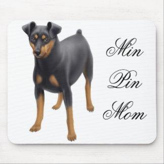 Min Pin Mom Mousepad