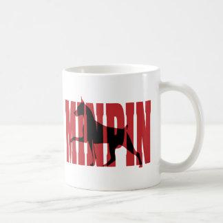Min Pin silhouette Coffee Mugs