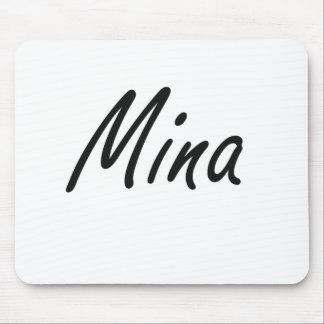 Mina artistic Name Design Mouse Pad