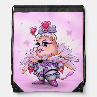 MINA BELLA ALIEN CARTOON Drawstring Backpack