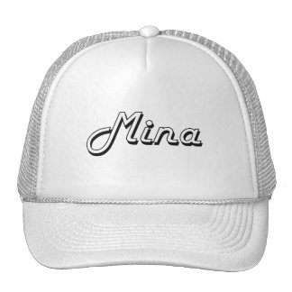Mina Classic Retro Name Design Trucker Hat