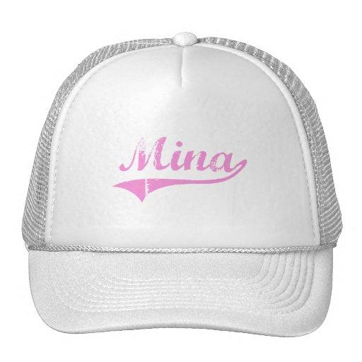 Mina Classic Style Name Mesh Hats