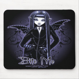 """Mina"" Gothic Blue Bite Me Vampire Fae Mousepad"