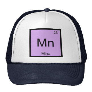 Mina Name Chemistry Element Periodic Table Trucker Hat