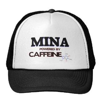 Mina powered by caffeine trucker hat