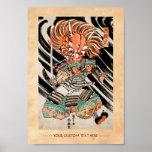 Minamoto Yorimitsu Kuniyoshi Utagawa hero art Poster