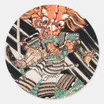 Minamoto Yorimitsu Kuniyoshi Utagawa hero art Round Sticker