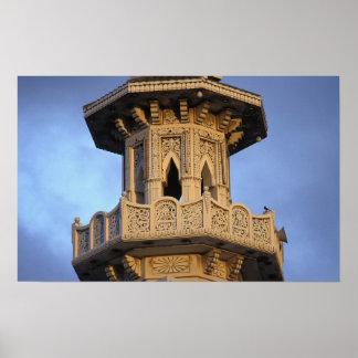 Minaret of the Al-Majarra Mosque Sharjah Poster