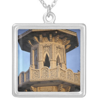 Minaret of the Al-Majarra Mosque, Sharjah, Silver Plated Necklace