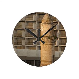 Minaret of the Jama al-Bahr waterfront mosque Round Clock