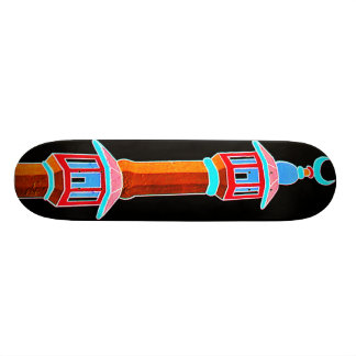 Minaret Stylised Illustration, Multi-Coloured 19.7 Cm Skateboard Deck
