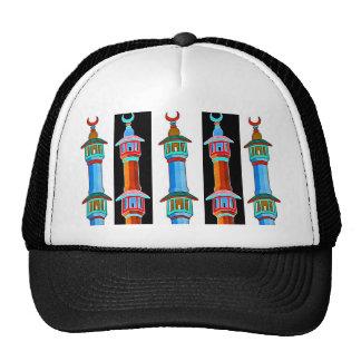 Minaret Stylised Illustration, Multi-Coloured (2) Mesh Hats