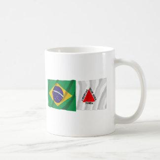 Minas Gerais & Brazil Waving Flags Basic White Mug