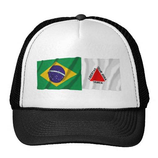 Minas Gerais & Brazil Waving Flags Trucker Hat