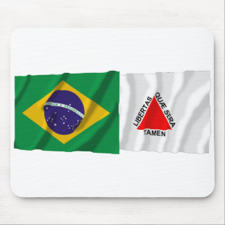 Minas Gerais & Brazil Waving Flags Mouse Pad