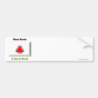 Minas Gerais Flag Gem Bumper Sticker