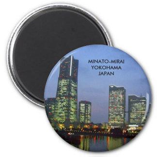 minatomirai 6 cm round magnet