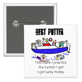 Minature Golf Prize during a family cruise 15 Cm Square Badge