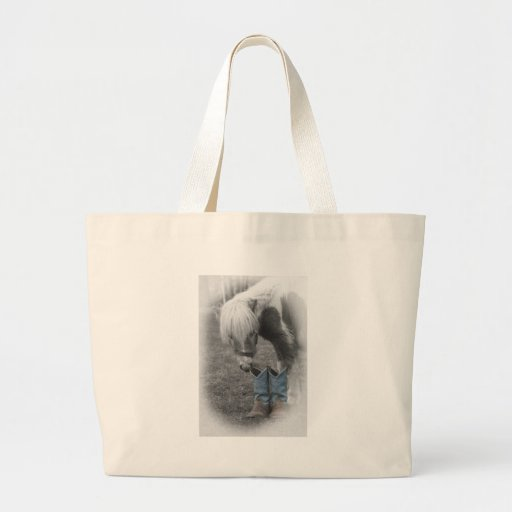 minature horse and boots canvas bags