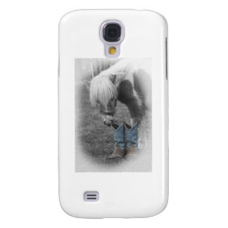 minature horse and boots samsung galaxy s4 cover