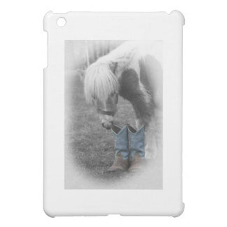 minature horse and boots iPad mini cases