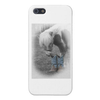 minature horse and boots iPhone 5 cases