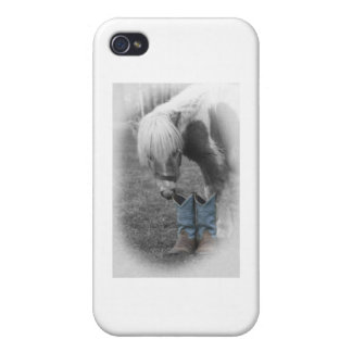 minature horse and boots iPhone 4/4S cover