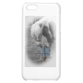 minature horse and boots iPhone 5C cover